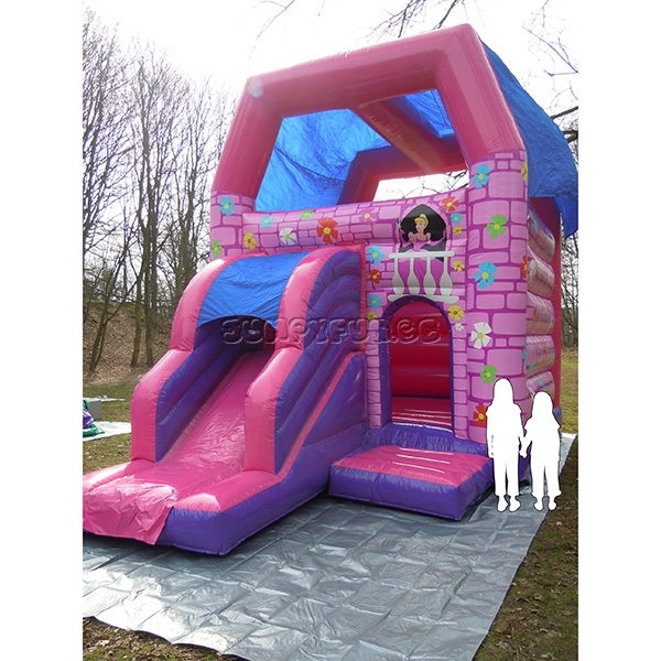 princess-slide springkasteel