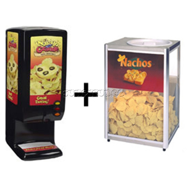 Nacho warmkast en cheese-dispenser