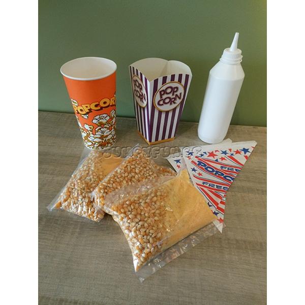 grondstoffen voor popcorn