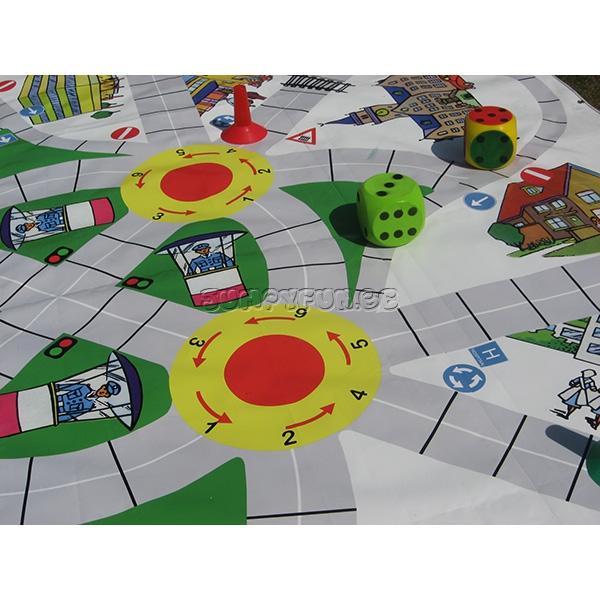 verkeersspel leren in het verkeer